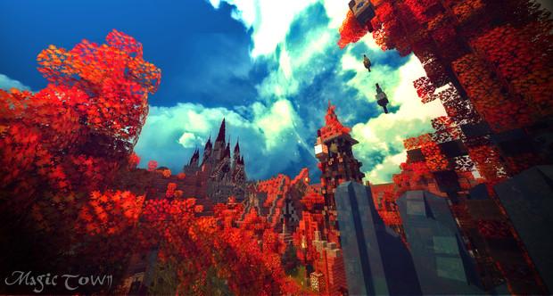 【Minecraft】魔法の街