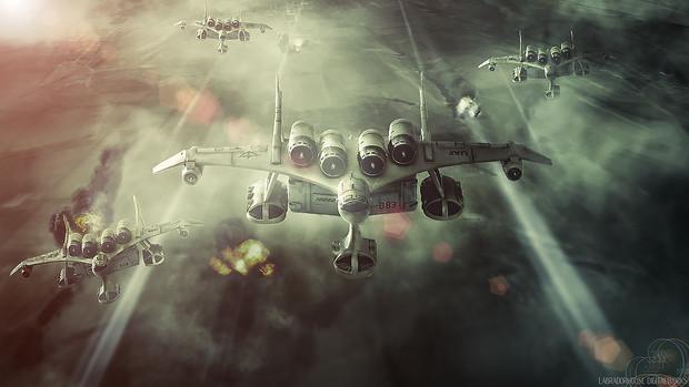 ミデア空輸部隊オデッサ上空を飛行