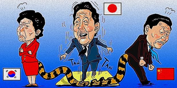 安倍さん靖国参拝で虎の尾を踏む? / 木住野武 さんのイラスト ...