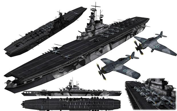 MMD用モブ航空母艦1945セット