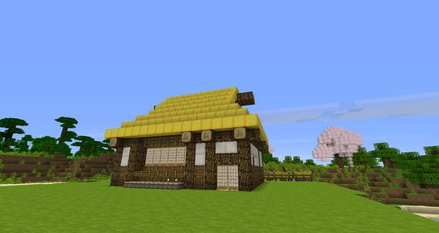 日本昔話に出てくるような藁葺きの家ができた 甘えん坊 さんのイラスト