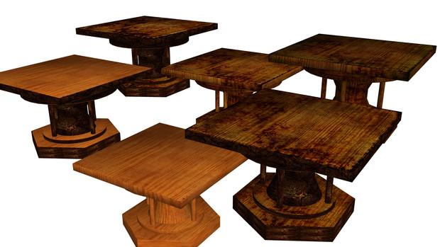 【MMD】木の台【配布】