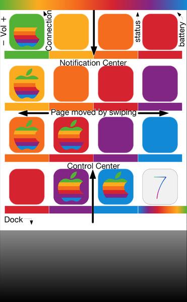 [3.5インチ]iOS7壁紙1