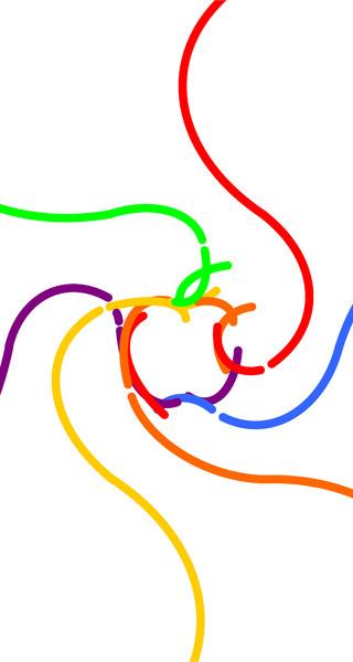 [4インチ]iOS7壁紙5(白背景)