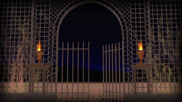 【MMDステージ配布】 門と柵とツタ
