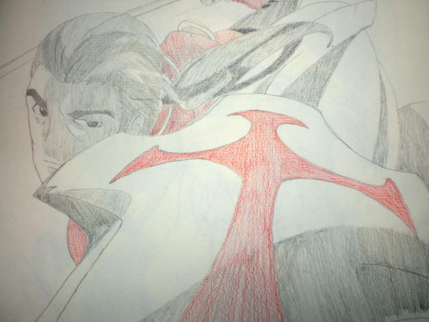 シャーペン(+α)でヒースクリフ描いてみた