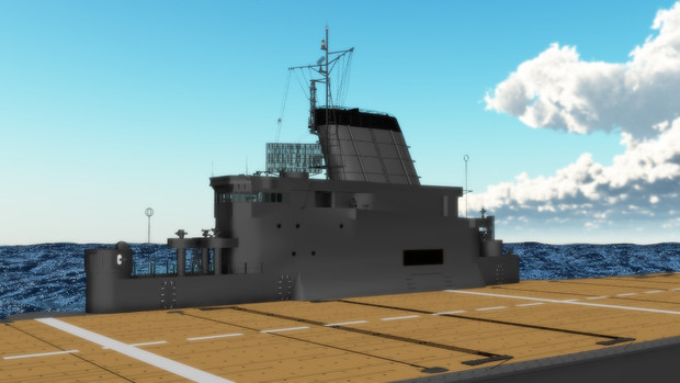 【モデル配布】軍艦「大鳳」飛行甲板