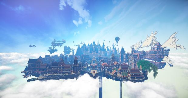 空に浮かぶ街 ルシエール 雲有り