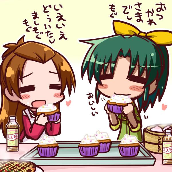 カップケーキを食べるなおちゃん
