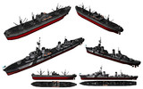 MMD用モブ駆逐艦1945&モブ輸送艦セット