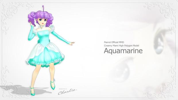 【MMD】クリィミーマミ・ハイポリモデル ~Aquamarine~完成
