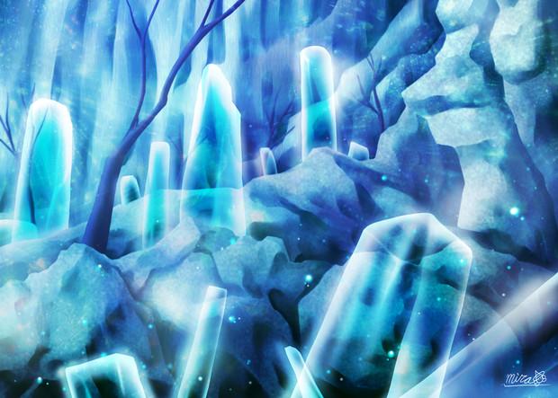 クリスタルの洞窟 未羅 さんのイラスト ニコニコ静画 イラスト