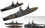 MMD用モブ戦艦(改装旧式)1945セット