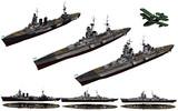 MMD用モブ巡洋艦(3タイプ)1945セット
