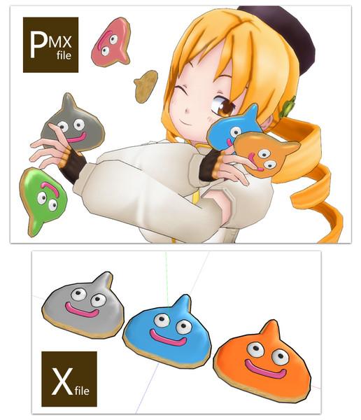 【MMDアクセサリ配布】スライムのアイシングクッキー