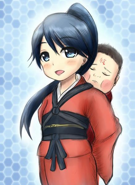 鳳翔ちゃんと赤城ちゃん