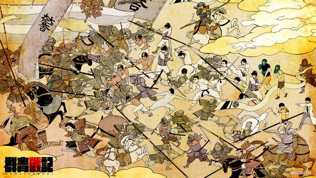 「群青戦記グンジョーセンキ」2巻発売記念壁紙・その壱(1920×1080)