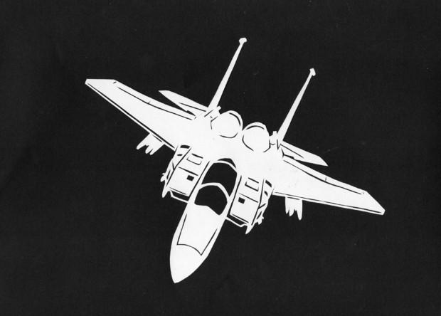 切り絵 F-15