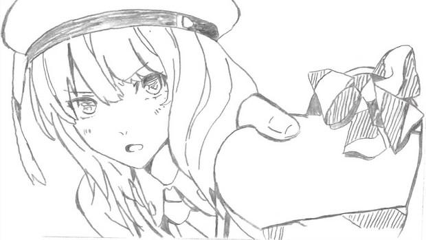 クラスメイトの友人が模写をしてみた/GOD EATER2~キャラクターシリーズ『エリナ』~