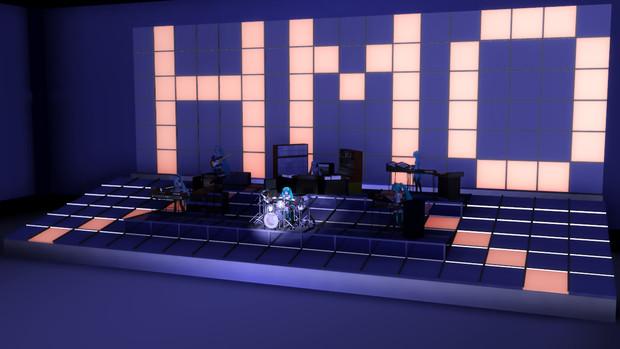 【MMD】YMO 1980 年ライブ風 ドラムモーション - ステージ