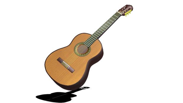 【MMD】可動弦クラシックギター【アクセサリ配布あり】