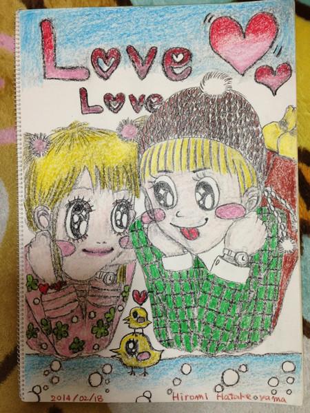 スケッチブックにオリジナルの絵を描いてみました(#^.^#)