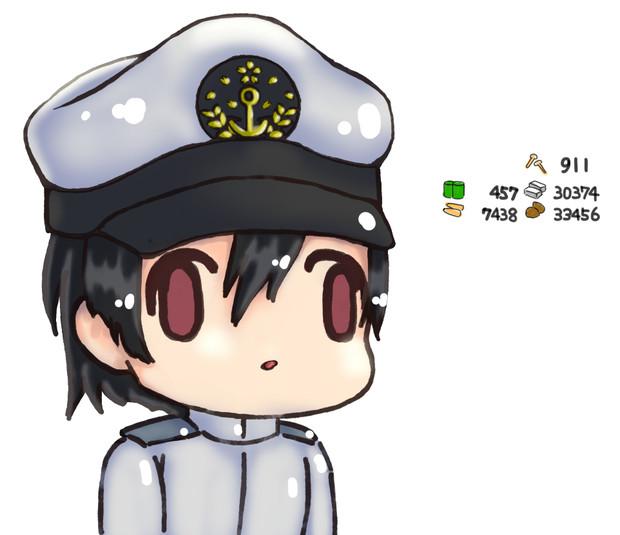 大型艦建造で資材を溶かした提督の顔