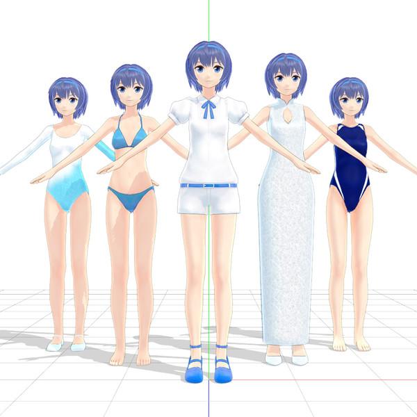 2018/04/20【MMDモデル配布】すずきつづみさん Ver30.00