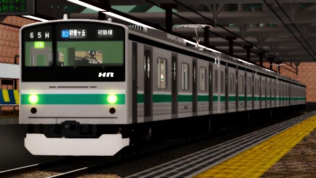 夕方の通勤電車
