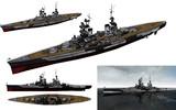 MMD用モブ巡洋戦艦(改装旧式)1945セット