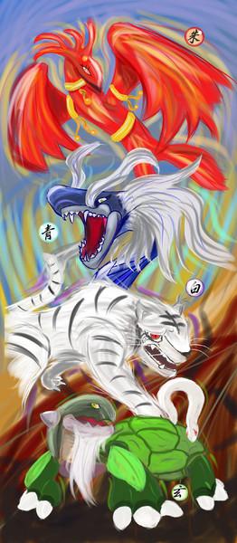 四聖獣 イツルギ さんのイラスト ニコニコ静画 イラスト