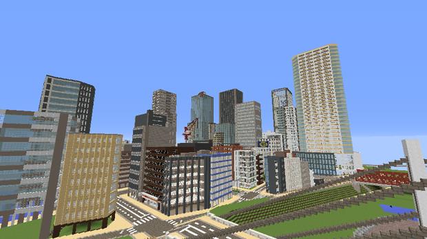 Minecraft超高層ビル群 さとー さんのイラスト ニコニコ静画