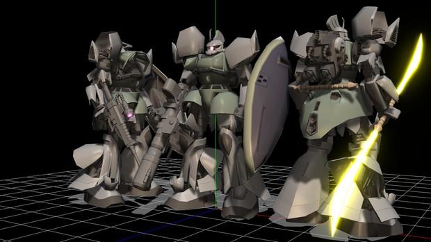 【MMD】高機動型ゲルググ配布