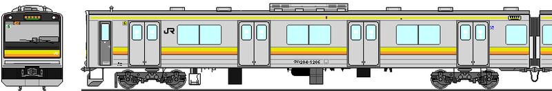 南武線205系1200番台 側面イラスト