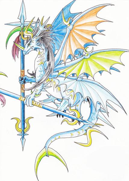 だいぶ前に描いたよくわからない龍のモンスター ちっぷ さんのイラスト ニコニコ静画 イラスト