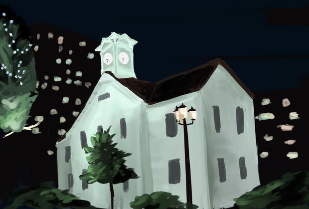 時計台っぽい建物 てつくし さんのイラスト ニコニコ静画 イラスト