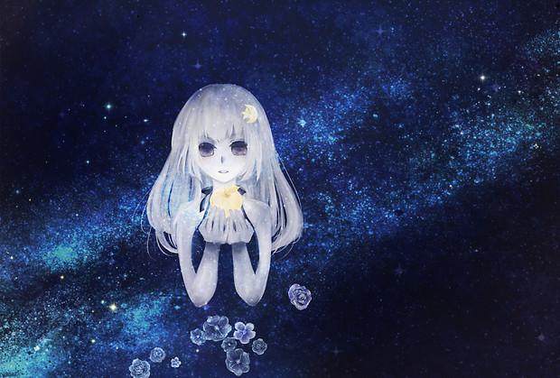 林檎と星空と少女。