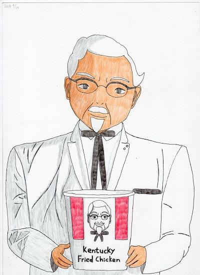 カーネルおじさんを描いてみた Asabatyou さんのイラスト ニコニコ静