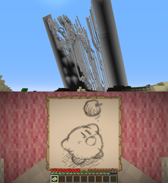 【Minecraft】地図ドット 64カービィ【お誕生日】