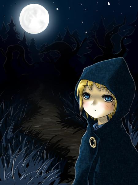 童話「黒頭巾の少女」スケッチ