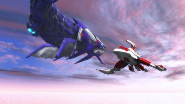 【MMD】伝説銀鷹と騎士化石【DBACEX】