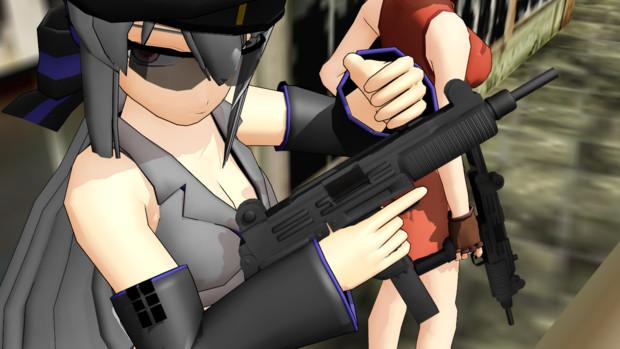 【MMD】UZI 9mm短機関銃【OMF4】