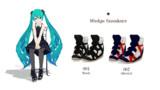 【MMD-OMF4】女の子用スニーカー【着せ替え用モデル】