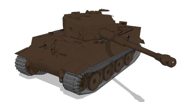 【MMD-OMF4】ティーガーI重戦車【モデル配布】