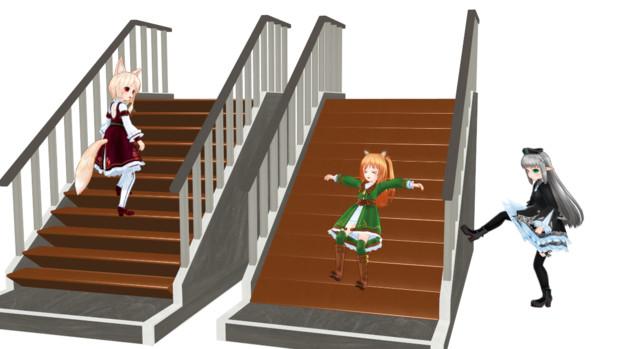 【MMD-OMF4】新喜劇っぽい階段