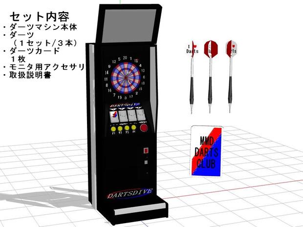 【MMD-OMF4】ダーツマシンセット配布