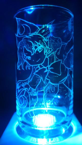 魅魔様をグラスに彫ってみた6
