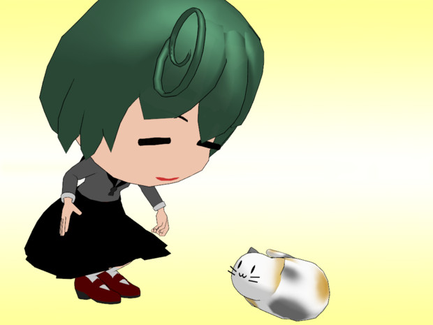 【OMF4】羅針盤娘(緑髪)【モデル配布】