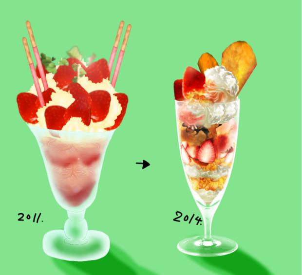 2011年と2014年の絵を比較