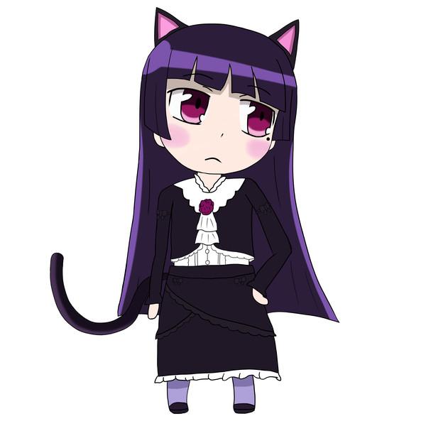 そっぽ向き黒猫ちゃん